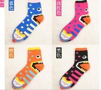 2013 New reach Top quality women's cotton socks Cute summer comfortable cartoon face expression sock