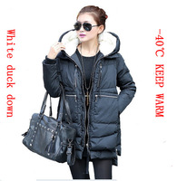 2013 hotalse  winter women's thickening waterproof white duck down jacket,keep warm ,plus size winter down coats