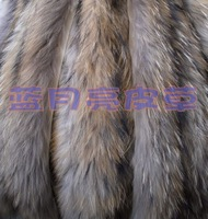 Fur down coat raccoon fur cap of sub fur collar fox fur collar hat brim muffler scarf