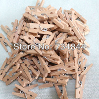 Free Shipping 500 pcs Natural Wood Mini Wooden Clothes Peg | Wood Clip | Tiny Colothespins Prefect Wedding Party Decoration