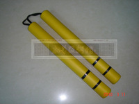 exemption from postage Nunchaku yellow nunchakus two stick