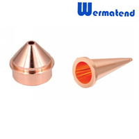 100pcs/lot Free shipping DHL or EMS high quality Laser cutting nozzle WMS-D double Precision import Cu laser nozzle