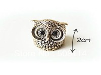 Wholesale Rings NEW CUTE Vintage owl woman 12pcs/lot R0019