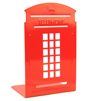 Telephone booth thickening iron bookend book file - - 2 9060