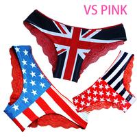 2014 new hot sale women underwear ; women's lace flag briefs ; sexy panties & lingerie;secret fantasias calcinha & cuecas