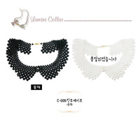 Free Shipping 2013 Pearl Net Short Design Necklace Clothing Collar Decoration Cape Leuconostoc Peter Pan Collar Accessories