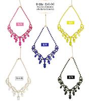 Free Shipping 2013 Bohemia Gem Short Design  Drop Necklace Female Accessories
