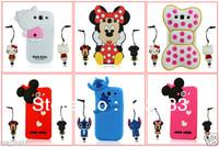 Fashion 3D Cartoon Mickey Stitch Animal Silicone Case Cover For Samsung Galaxy S3 i9300+ Stylus Pen.