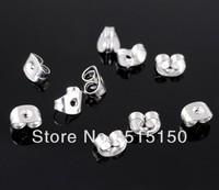 Free Shipping 1000pcs Stainless Steel Silver Butterfly Earring Backs Earplug Earring Findings ,DIY jewelry