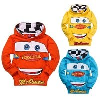 2013 Hot! Wholesale 6pcs kids boys hoodies Children's Cartoon Cars long sleeve T shirt/Sweatshirt children hooded sport coat