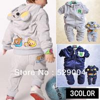 Free Shipping Hot New Winter Suit Cotton Children's Wear Cute Little Bear Suit Jacket + Pants