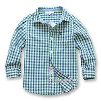Children's clothing 2013 autumn fashion plaid paragraph male child 100% cotton long-sleeve shirt child shirt baby top