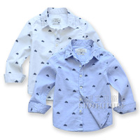 Children's clothing male child autumn 2013 classic bicycle male child long-sleeve shirt baby 100% cotton shirt