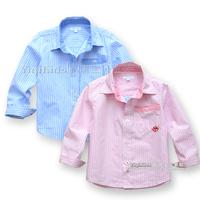 Children's clothing 2013 autumn fashion stripe paragraph child clothes male child baby 100% cotton long-sleeve shirt