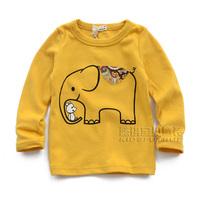 Children's clothing 2013 autumn male female child baby child 100% cotton long-sleeve T-shirt bib