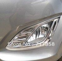 Free shipping 2012 Hyundai Elantra ABS Chrome Front Fog light Lamp Cover Trim