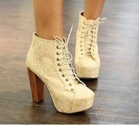 Womens shoes Autumn Winter pumps high heels jeffrey campbell lace hot-selling fashion with platform boots