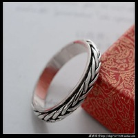 925 pure silver jewelry single rotating ring transhipment male women's ring