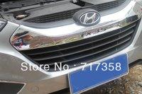 Free shipping 2010-2012 Hyundai ix35 ABS Chrome Front Grille Around Trim Racing Grills Trim