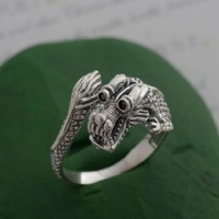 925 pure silver jewelry vintage thai silver male ring