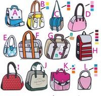 200pcs/lot DHL/EMS  Free Shipping 24 designs Together  Comic Cartoon 3D Shoulder Messenger Bag Gismo Cartoon Bag