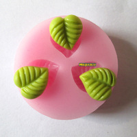 three leaf leaves resin flower fondant cake mold chocolate silicone mols factory direct quality assurance