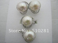 White 12mm pearl  beautiful Ring earring  pendant four sets!