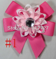 Girl Costume Boutique 3-3.5 Inch Satin Ribbon Lover Hair Bows clip baby hair clip Flower Hairbow f91