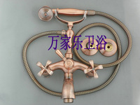 Red bronze bathtub phone type bathtub faucet antique shower faucet shower faucet set