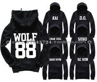 Xoxo exo-k kiss hug wolf hooded baek hyun se hun kai sweatshirt