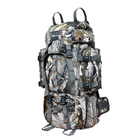 Camouflage bag double-shoulder travel mountaineering bag 60l large capacity backpack field outdoor products off-road backpack
