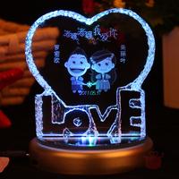 Heart love crystal inside carving wedding gift memorial gifts girlfriend birthday