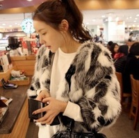 2013 Fashion Brand Faux Rex Rabbit Fur Coat Women Faux Fur Coats Women Coat Jacket Free Shipping