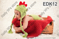 Cool dinosaur baby hat and diaper cover set handmade crochet photography props newborn baby dragon hat and shorts