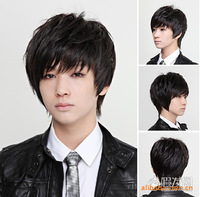 Free Shipping, [Product] non-mainstream wig short hair Qi Liu bobo head fashion male hair fashion