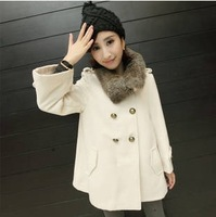 Free Shipping New 2013 Fashion Warm Winter Coat Women,Female Casual & Leisure Outwear, Rabbit Hair&Wool Ladies Jacket Coat