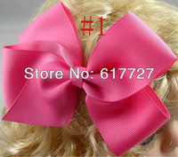 Girls' hair accessories, Baby White Ribbon Flower Hairbow, Flower Hairbow, Flower Hairclip, Girl Hairbow, Baby Hairbow f53