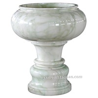White jade marble sculpture crafts fish tank natural jade apotropaic