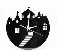 Free shipping New Art Home Decoration Mute Acrylic quartz Wall Clock Retail