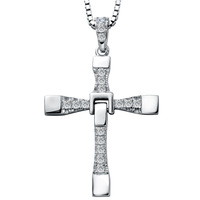 Silver cross necklace male necklace pendant silver jewelry
