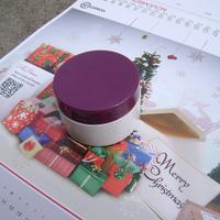 15g cosmetic jar with white box and fuchsia lid, DIY cream box, empty plastic case