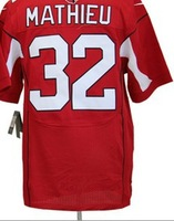 Men 32 Tyrann Mathieu  elite American football Jersey,Cheap mens Sports Jersey,Embroidery logos,Mix order