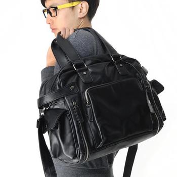 new 2014 Male shoulder bag casual handbag laptop cross-body bags for man men messenger leather handbags