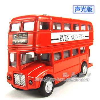 Classic double layer bus plain WARRIOR alloy toy car model
