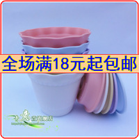 Gardening supplies flower pot plastic resin flower pot indoor desktop bonsai flower pot belt trays