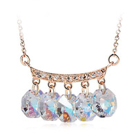 Crystal statement necklace jewelry made with Swarovski Crystal Elements 10315