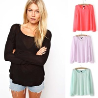 2013 NEW Women O-neck Sweater Knitted Wear Knitting Pullovers For Women Knitwear SWT033