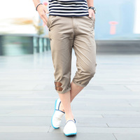 Clothing fashion male casual pants hasp capris casual male slim