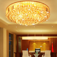Golden circle cake crystal lamp ceiling light led lighting 0076