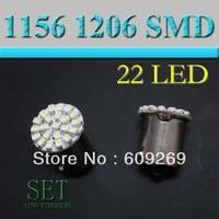 High quality 1156 1206 22 SMD LED car turn brake signal light bulb 100pcs/lot